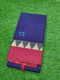 Purple and Pink Pure Handloom Narayanpet Cotton Saree with Tassels