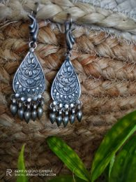 Handcrafted Tribal Silver Earring