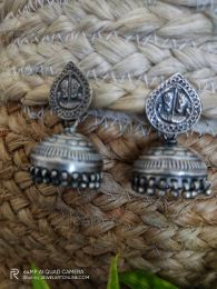 Handcrafted Tribal Silver Jhumka